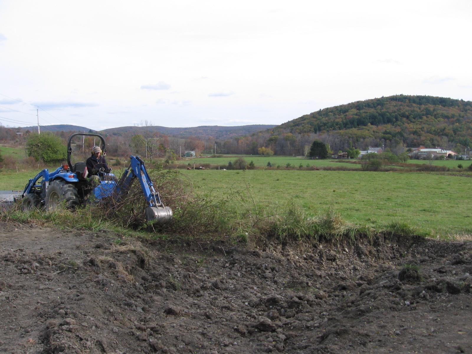 Excavation of Rain Garden